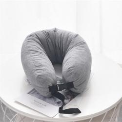 描樸科技2019新款全棉針織棉休閑乳膠U型枕 65*12cm