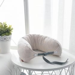 描樸 全棉針織棉可拆洗米家同款天然乳膠顆粒U型枕 卡其