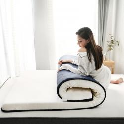 依诺床垫  2019新款乳胶床垫 蓝白(厚度6cm)