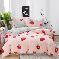 洺蘭家居 2019新款12868全棉四件套 草莓甜心