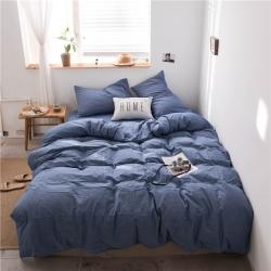 (總)樂多 2019全棉色織水洗被套款四件套床單款