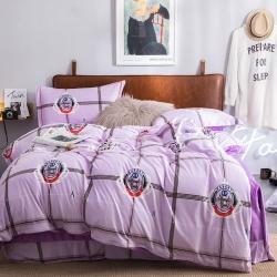 圣艾諾 2019新款水晶絨寶寶絨四件套 寶莉格(丁香紫)