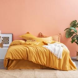 (总)邸喜60s长绒棉纯色素色四件套全棉纯棉套件寝室