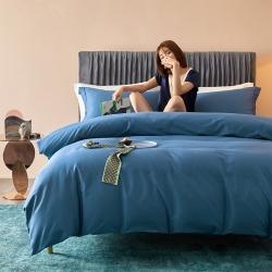 (總)邸喜60s長絨棉純色素色四件套全棉純棉套件寢室