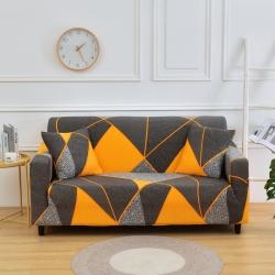 四季鹿 2019新款彈力全包沙發套 幾何拼塊