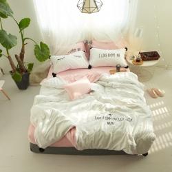 (总)艾佳 全棉13372睫毛女孩系列四件套床单款