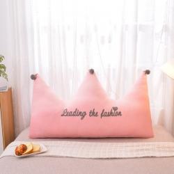 梦雨轩 毛巾绣水晶绒大靠背皇冠床靠枕床靠背枕芯 玉色