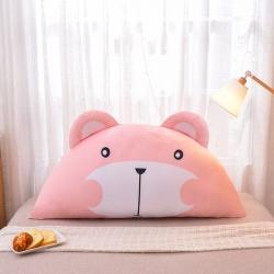 夢雨軒 水晶絨數碼印花床靠枕床靠背靠墊枕芯卡通 呆呆熊