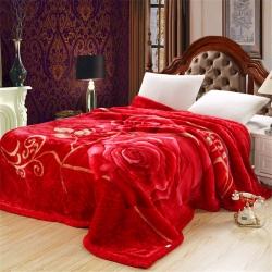 法莱妮  加厚保暖拉舍尔婚庆系列毛毯 玫瑰情深