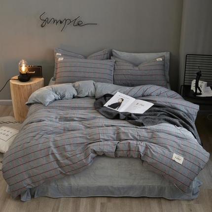 平头哥 A版色织水洗棉B版水晶绒四件套床单款 22莎士比亚