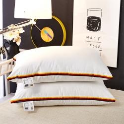(总)伟邦枕芯 2017新款羽丝绒系列简约英伦条纹枕2色