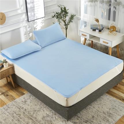 好美家 2019新款云母凉感空调席床单款 条蓝