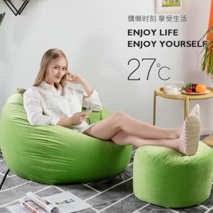 百思寒 2018新款圆绒豆袋型懒人沙发(包邮)翡翠绿