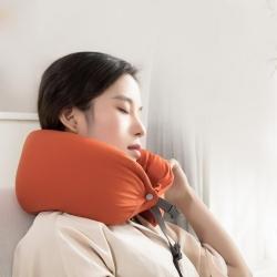 百思寒無印良品風U型枕微粒子多功能護頸枕頸椎靠枕旅行枕午休枕