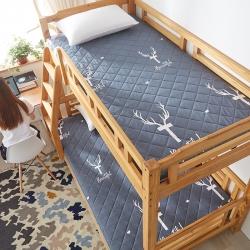 (總)迪樂妮 單人床墊水洗棉溢水透氣加厚5厘米床墊 鹿灰
