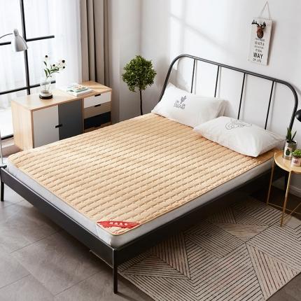 天依舍家纺 印花薄床垫 驼色