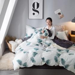 (总)风向标家纺 2018新款全棉印花水晶绒四件套床单款