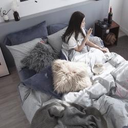 (总)风向标家纺 2018新款韩版棉加绒公主风四件套床笠款