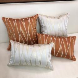 2019新款輕奢現代樣板房靠墊抱枕套幾何線條樣板房靠背