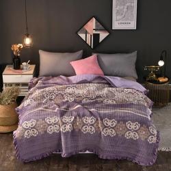 岚吉家纺 2018新款加厚水晶绒绗缝床盖 歌德堡