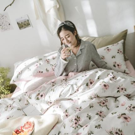 小米家居 2018新款全棉光阴故事系列床单款 栀子花开