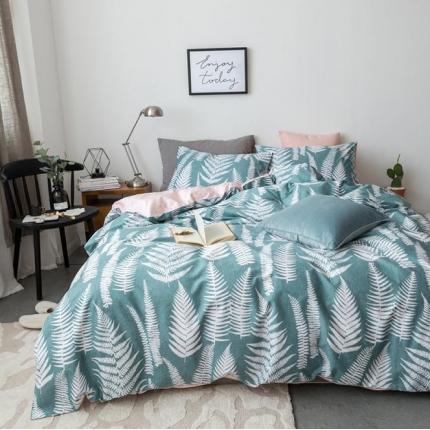 小米家居 2018新款全棉自然森系风系列床单款 觅青森