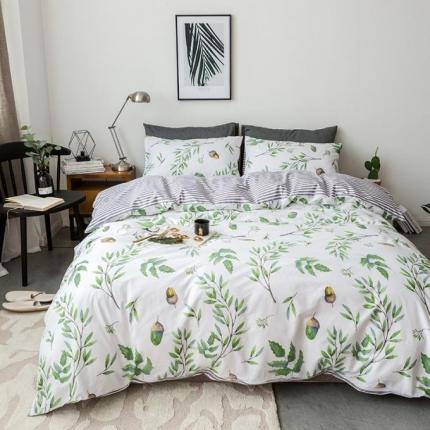 小米家居 2018新款全棉自然森系风系列床单款 青柠梦镜