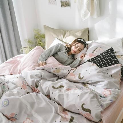 小米家居 2018新款全棉早春新品皇冠假日系列床单款 童话