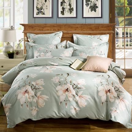 凯磊家纺 生态磨毛四件套床单款薇澜花开