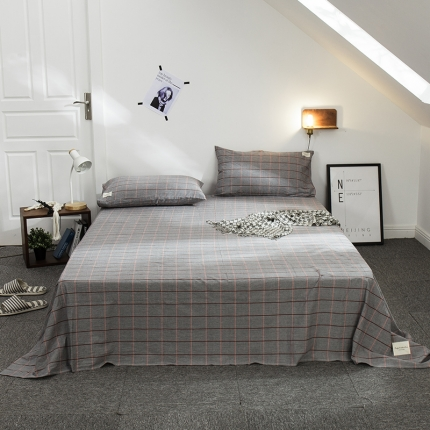 (总)凯磊家纺 全棉色织水洗棉单床单