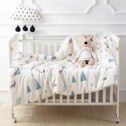 御棉坊全棉双层纱布棉花被婴幼儿包被儿童被子冬被春秋被芯大自然