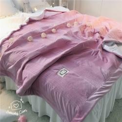 韩国绒水晶绒短毛绒加厚绗缝保暖床单床盖床裙床垫多尺寸可选6色