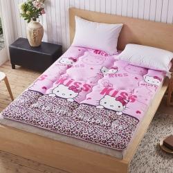 磨毛床墊床褥子單人雙人墊被褥學生宿舍 豹紋KT