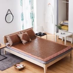 玖治家纺碳化麻将席双人床竹席0.9米学生宿舍席私人定制