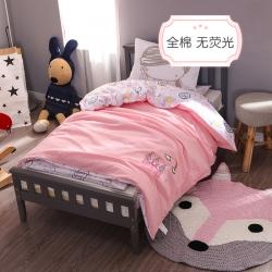 (總)小馬達幼兒園被子三件套 嬰兒床品 兩面派全棉套件