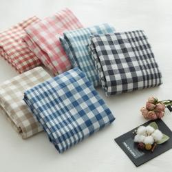 北歐良品 多規格(單品床笠/床單) 單件水洗棉四件套無印良品
