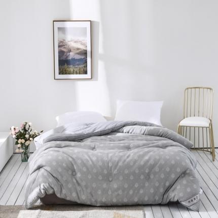 傲蕾良品专版花型埃及棉色织大提花立体冬被透气保暖柔软贴身被子