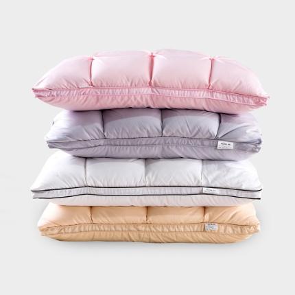 (总)抗日家纺 柔赛丝面包羽绒枕 蚕丝枕芯被芯 鹅绒枕头