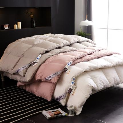 抗日特价款 新款100支全棉贡缎羽绒被 冬被被子 被芯