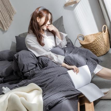 (总)爱尚佳家纺 全棉水洗棉床单款四件套