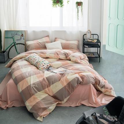 (总)爱尚佳家纺 全棉色织精梳水洗棉多规格四件套床单款