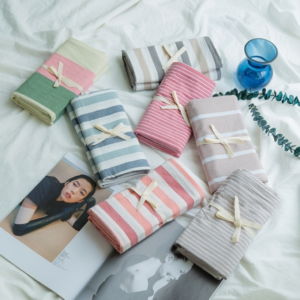 (总)爱尚佳家纺 2018新款全棉色织精梳水洗棉枕套