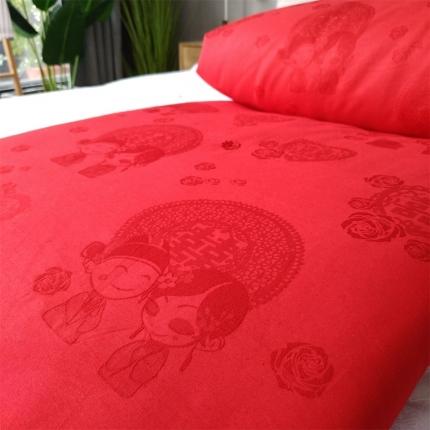 傲蕾良品正宗100%婚庆桑蚕丝被结婚双宫丝全棉喜被大红色冬被