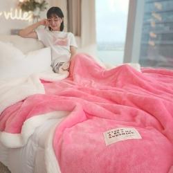 (总)晨曦家纺 2018新款羊羔绒法莱绒双层毛毯
