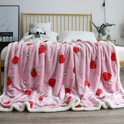 (总)羊羔绒毯子法莱绒毯子童毯午睡毯双层毛毯