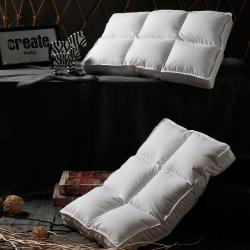 圣卓家纺 六格方块羽丝枕头枕芯