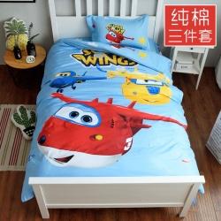 卡通全棉三件套纯棉三件套被套床单枕套1.2m床上用品冰雪奇缘
