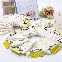 吖噢 全棉纱布婴幼儿口水巾一卡四条 围嘴肚兜 婴童用品