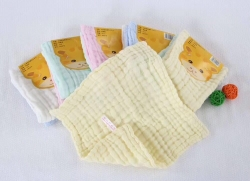 吖噢 全棉纱布水洗泡泡纱素色 印花口水巾方巾 一卡两条围嘴