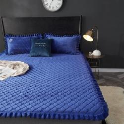 xml 天然可水洗乳胶床垫三件套乳胶软垫子绗缝床盖保暖床垫